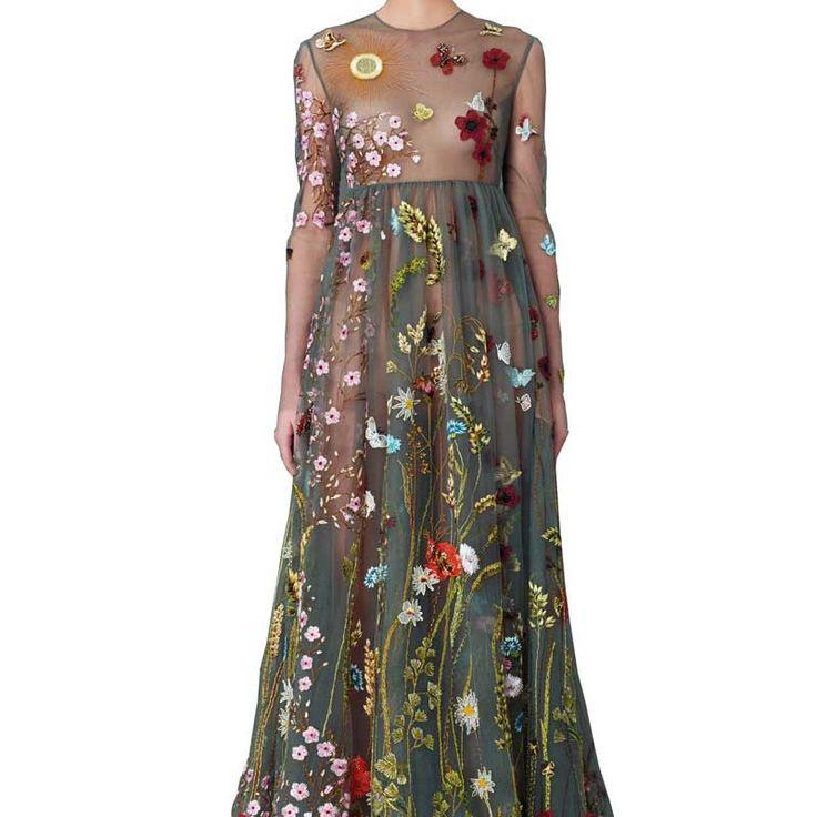 Бальные платья макси платье женщины элегантный длинные цветочные вышивка vestidos de fiesta largos elegantes модный бренд одежды 2016 купить на AliExpress
