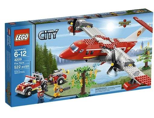 Jeu de construction LEGO City 4209 - L Avion des pompiers