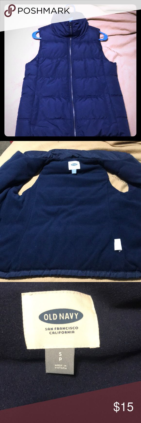 Navy old navy vest Almost new old navy navy vest. Only wore once. Offers accepted. No trades Old Navy Jackets & Coats Vests