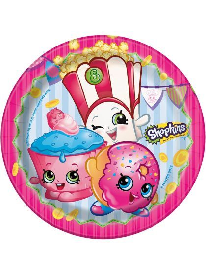 """Shopping for Shopkins 7"""" Cake Plates for your next bash? Browse Birthday in a Box for the most popular themed tableware and party decorations for cheap prices."""
