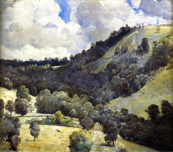 Hillside Tom Roberts (1927) Art Gallery of South Australia Painting - oil on canvas