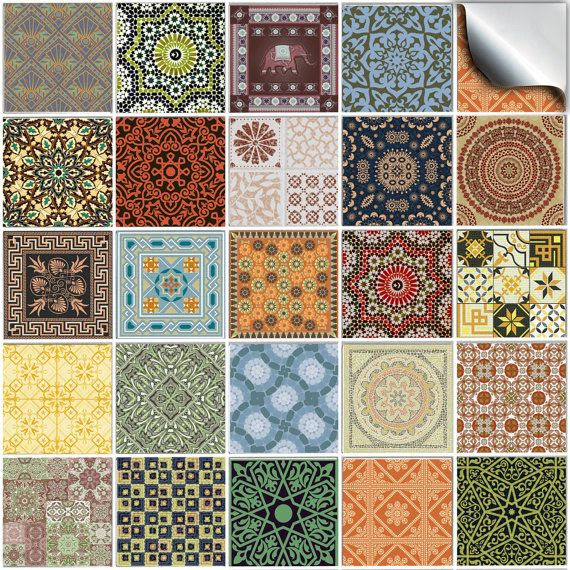 Pack of various traditional mosaic tile stickers --(NTp 06)-- kitchen tile stickers / tile transfers – factory direct price,  no middleman