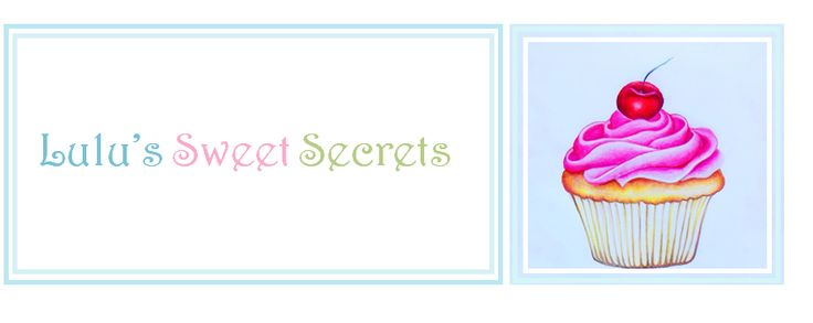 I can't say enough good things about Lulu's Sweet Secrets blogspot.  I found it through fellow pinner Sandra S-P who has wonderful boards and has a knack for finding unique baking and cake pins.  Thanks Sandra S-P and thanks Lulu
