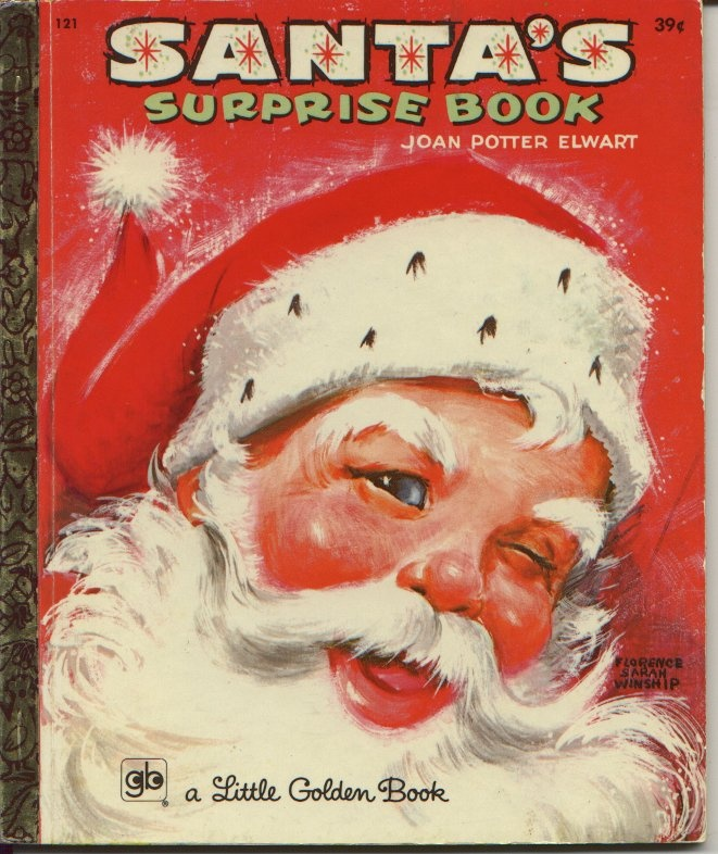 SANTA'S SURPRISE BOOK - Vintage Christmas  I remember books like this from my childhood (coloring pages and activity pages).