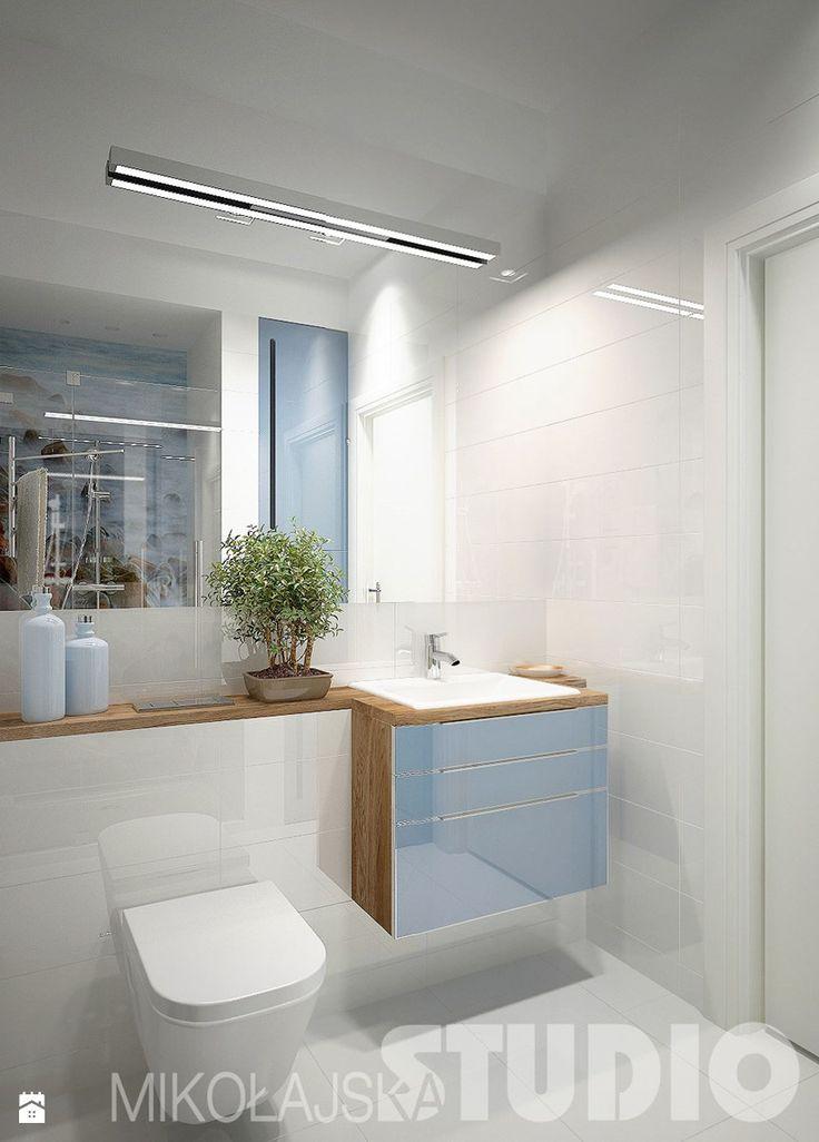 Niebieska łazienka - zdjęcie od MIKOŁAJSKAstudio