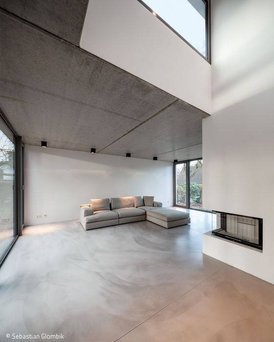 Die besten 25+ Betonboden Ideen auf Pinterest Pandomo floor - interieur bodenbelag aus beton haus design bilder