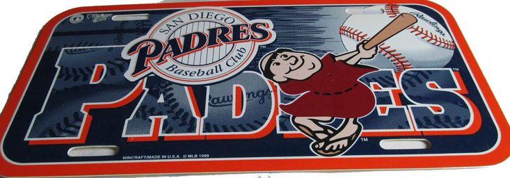 San Diego Padres license plate