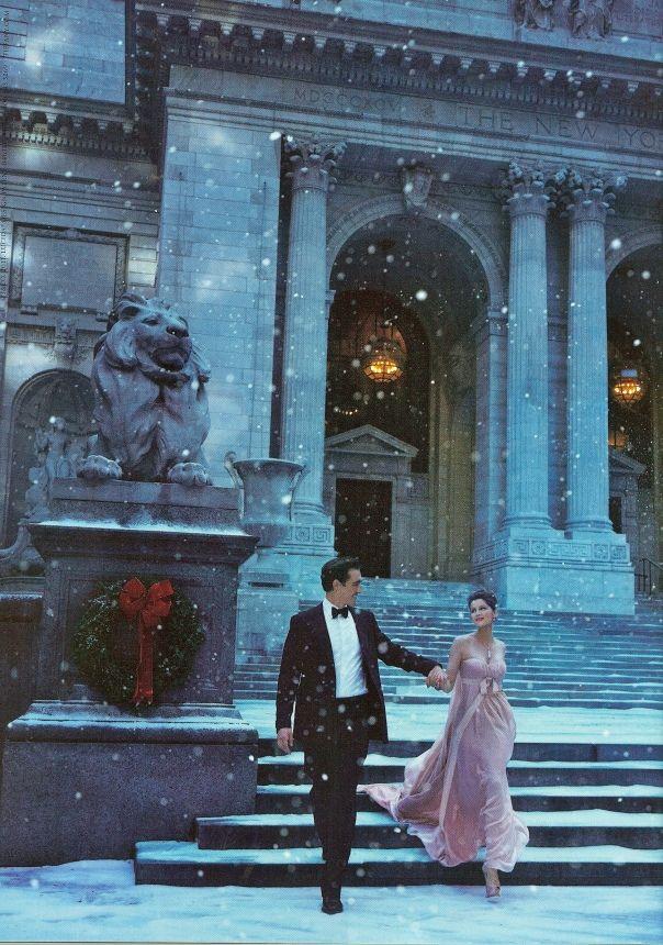 Fantasy Christmas romance via a Tiffany Ad.