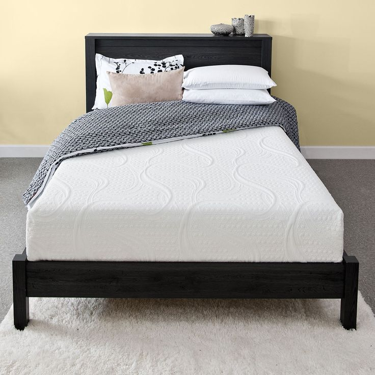 priage green tea 8inch kingsize memory foam mattress and steel foundation set by priage - King Size Tempurpedic Mattress