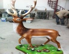 Deer statue pedestal