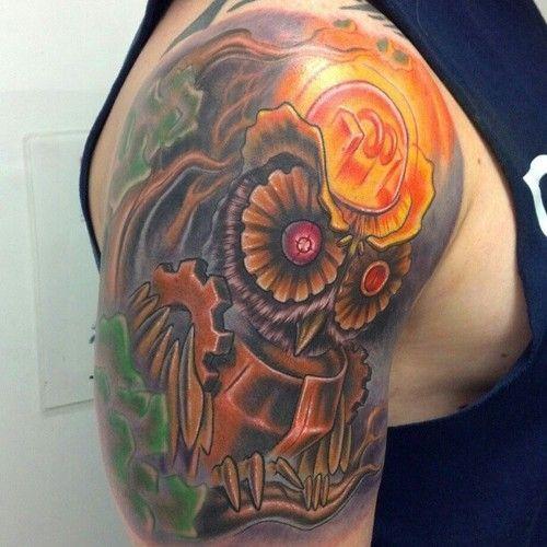 28 Steampunk Tattoo Designs Ideas: 44 Best Steampunk Owl Tattoo Images On Pinterest