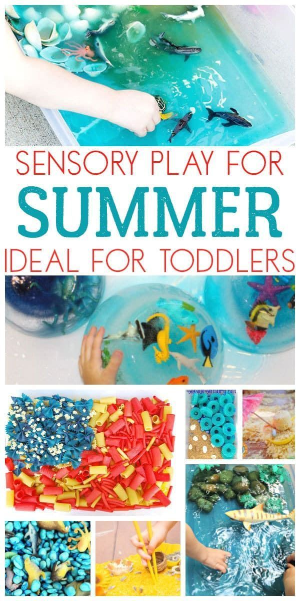 10+ Summer Sensory Tubs for Toddlers