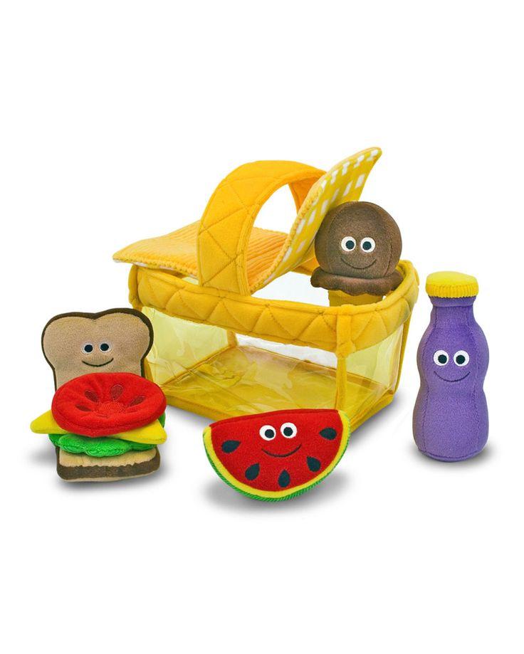 Brinquedo Infantil Cesta de Piquenique de Pelúcia Melissa & Doug  Delícia de piquenique!  Este jogo de piquenique inclui 5 peças de pelúcia para a criança montar um delicioso lanchinho de brincar.
