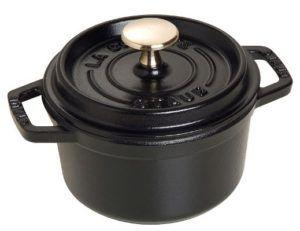 staub cast iron round cocotte induction cookware pot