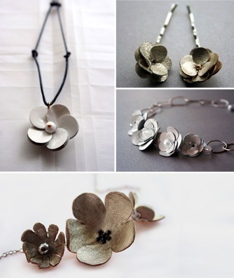 leather jewelry   ... leather jewelry and accessories by Babette . Pretty pretty! { via