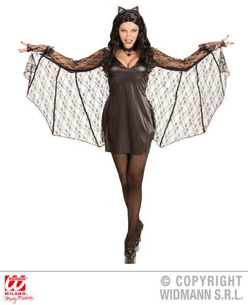 Ladies-BATWOMAN-dress-with-wings-ears-Superhero-Batgirl-Batman-Bat-Fancy-Dress