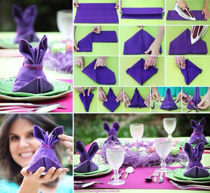 napkin idea #napkin #idea #purple #cool #diy