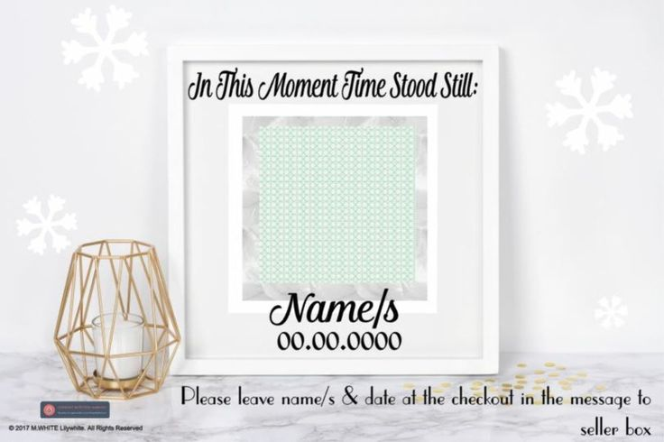 In this Moment Time Stood Still - Sticker for BOX FRAME - IKEA/HOBBYCRAFT #IKEA #Novelty