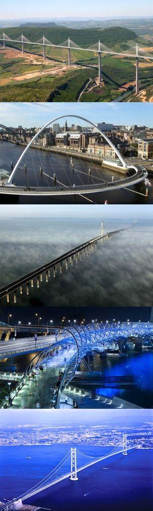 Cinque straordinari ponti costruiti negli ultimi vent'anni (in Francia, Inghilterra, Cina, Singapore e Giappone)