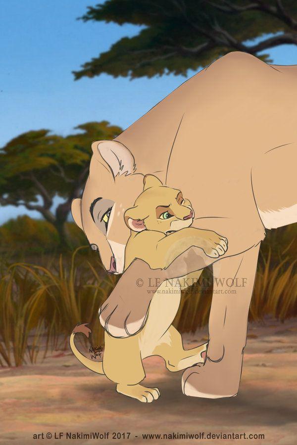 Lions Maame and Kyla cub by NakimiWolf.deviantart.com on @DeviantArt