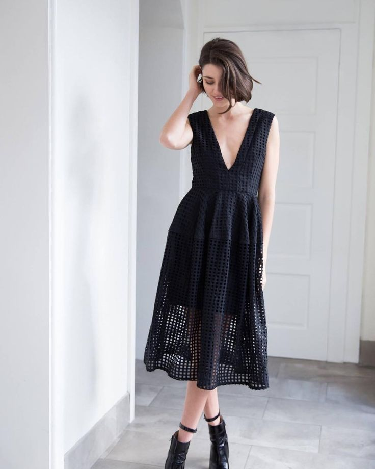 Today were eyeing off this gorgeous black ensemble  Shop the Nicholas Black Grid Lace Dress on sale now - $150 via the link in our bio. Worn by @ashleighwesseling  @neelashearer #Revoir #RevoirAustralia #Pin
