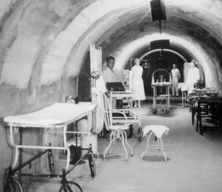 American Army Nurses in Malinta Tunnel Hospital on Corregidor, Philippines in 1942