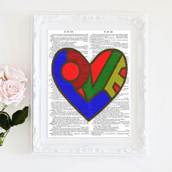Pop art heart by secondprints on Etsy