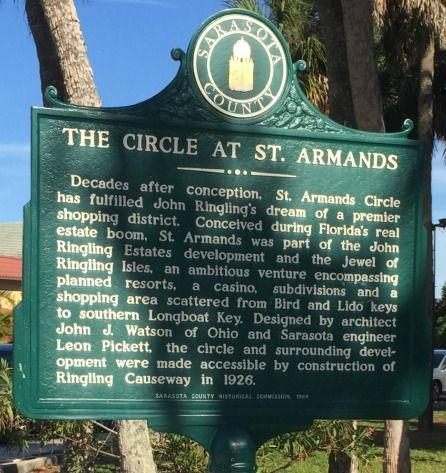 St Armands Circle - Sarasota Florida St Armands Sign