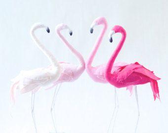 Scultura di arte fenicottero rosa scelte di di AtelierCaroline