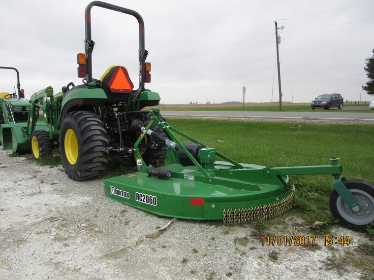 John Deere 2032R with Frontier  RC2060 mower