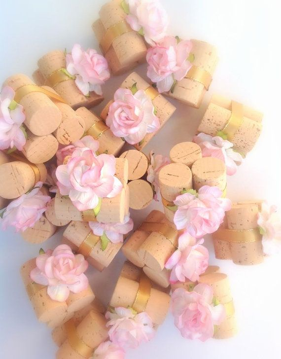 place card holders in blush pink u0026 gold by succulent wedding