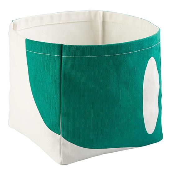Color Pop Cube Bin (Green) | The Land of Nod