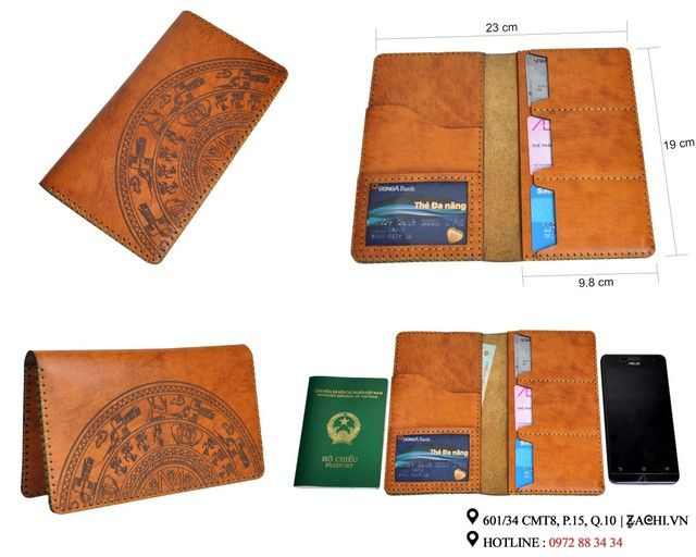 Ví nam handmade da thật dạng dài|Zachi.vn|Dangcapphukien.vn - Zachi chuyên sản xuất túi xách nam đẹp từ da thật được làm handmade|Zachi.vn