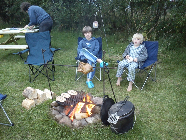 Camping Sites in Pembrokeshire : Spring Meadow Farm - small Cert Site C (5 pitches only) - fire pit for each pitch - great reviews - new site - minor problem - will only accept week-long bookings for whitsun / summer holiday