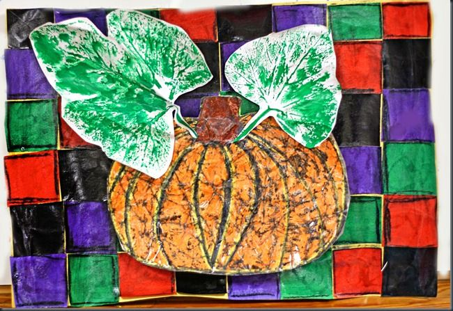 Pumpkins, Leaf prints and Pumpkin art on Pinterest