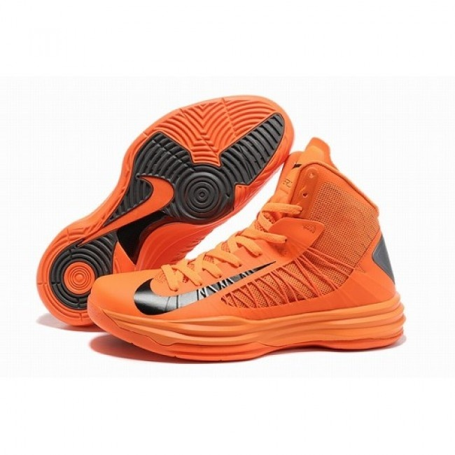 For Sale Nike Lunar Hyperdunk X Men Basketball Shoes Orange/Black 1009 For  $68.00 Go