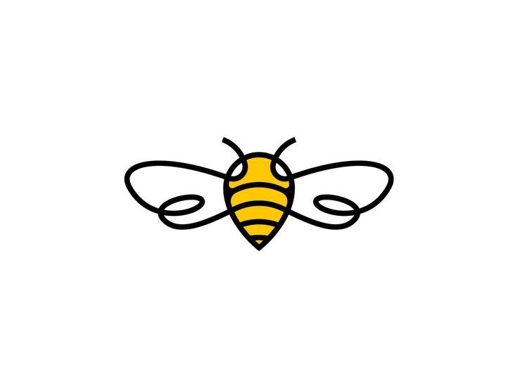 Pin bee logo design by gedas meskunas in 2020 logo