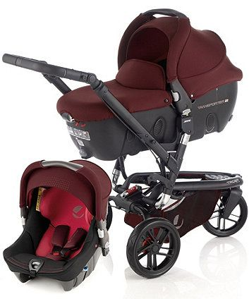 Jane Trider, Strata & Tranpsorter 2 Pram and Pushchair Travel System + Accessories - Flame