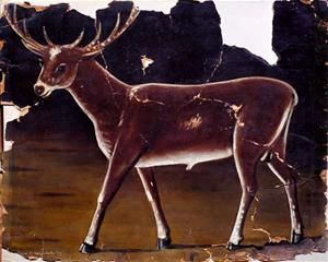 Deer - Niko Pirosmani