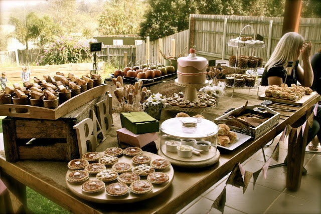 country baby shower-LOVE the letters on the table