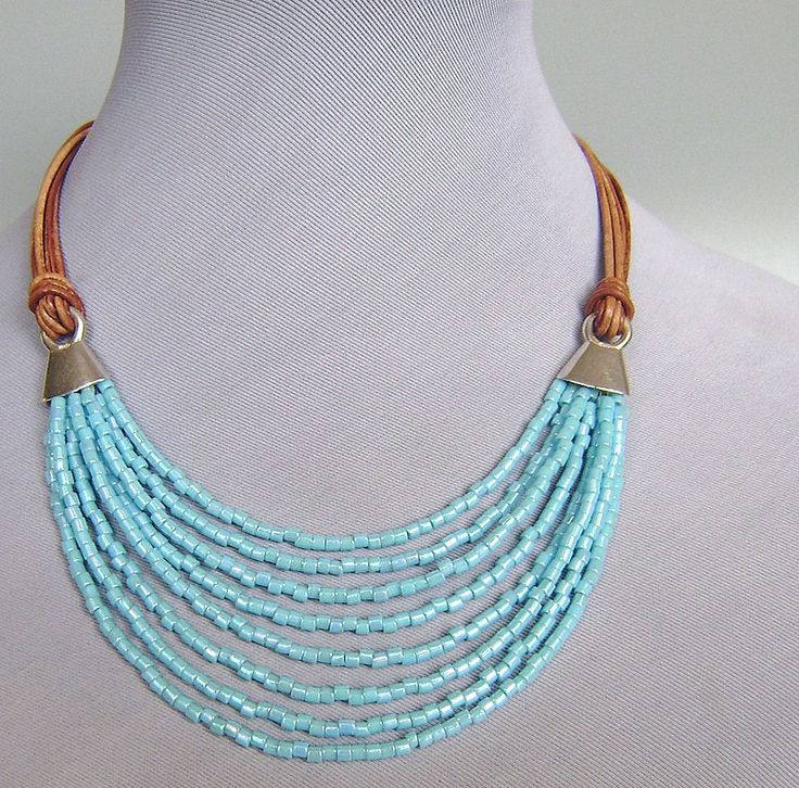 Beautiful necklace made out of #miyuki beads and more. Check out all the wholesale Miyuki beads online at Snowfall Beads: http://www.snowfall-beads.com/beads/miyuki-beads-en/sig/3075