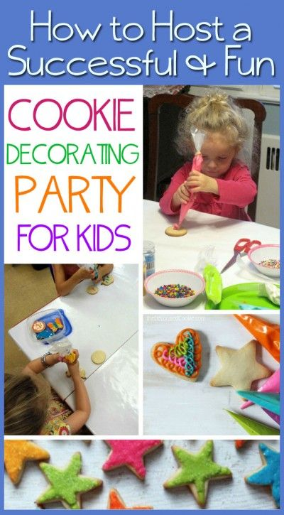 tips and how-tos for hosting a cookie decorating party or event for kids