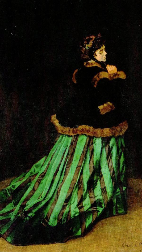 Camille ou La femme à la robe verte - Claude Monet - 1866