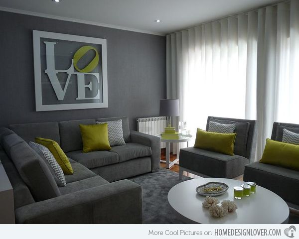 15 Lovely Grey And Green Living Rooms | Decor | Pinterest | Living Rooms, Green  Living Rooms And Gray