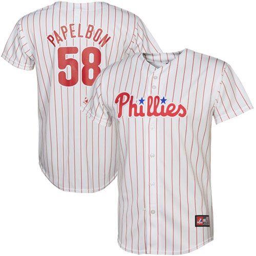 71ca7d5b2 ... Majestic Jonathan Papelbon Philadelphia Phillies Replica Jersey - White  ...