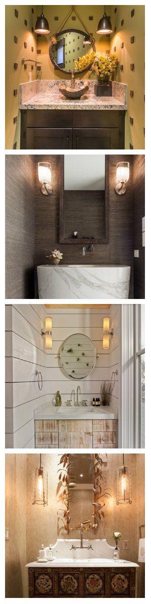 Ванные столь же разнообразны как и их владельцы, чего нельзя сказать об стандартном наполнении ванных комнат сантехникой. Но и здесь удается выделиться из общей массы. Поклонники симметрично установленных около зеркала над раковиной светильников, имеют возможность не только максимально осветить эту площадь, но сделать ванную уютной и стильной. Какой бы стиль вы не выбрали для своей ванной, главное, чтобы светильники полностью соответствовали общей концепции и цветовой гамме.