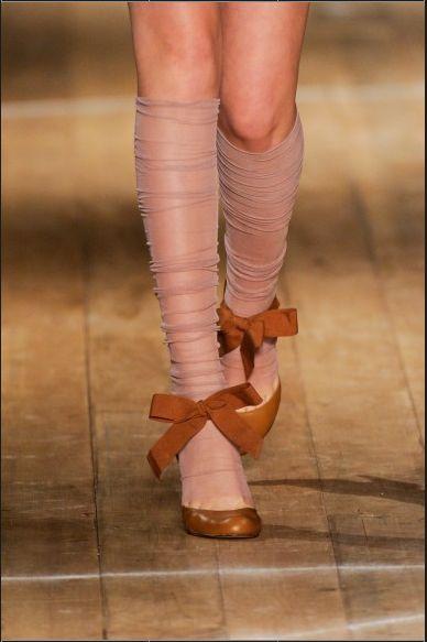 bows...and sheer tights...  :)