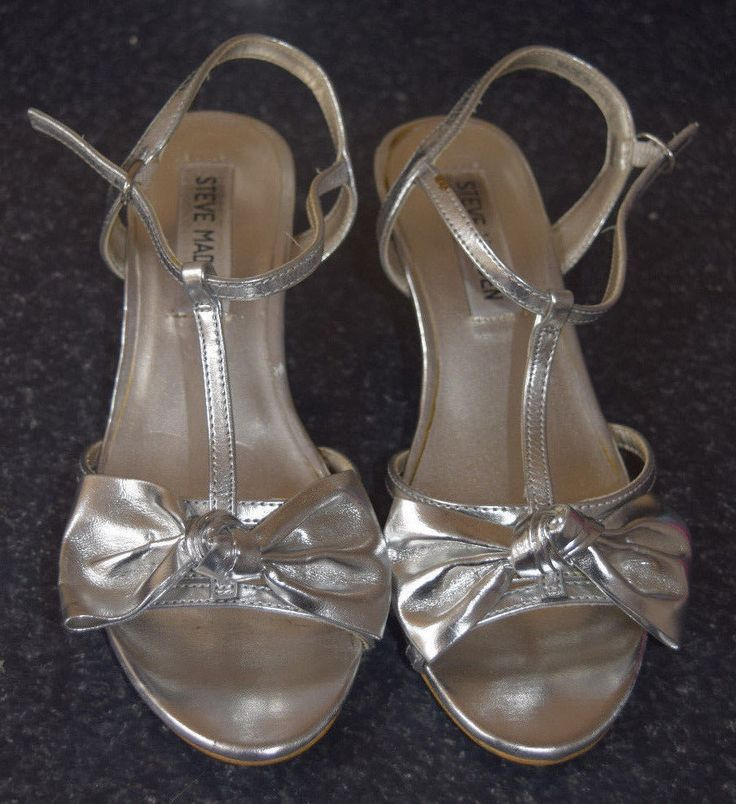 Steve Madden Girls Silver Sandals Heels Pumps Shoes Bow Party J-Bella Size 2 gm | Clothing, Shoes & Accessories, Kids' Clothing, Shoes & Accs, Girls' Shoes | eBay!