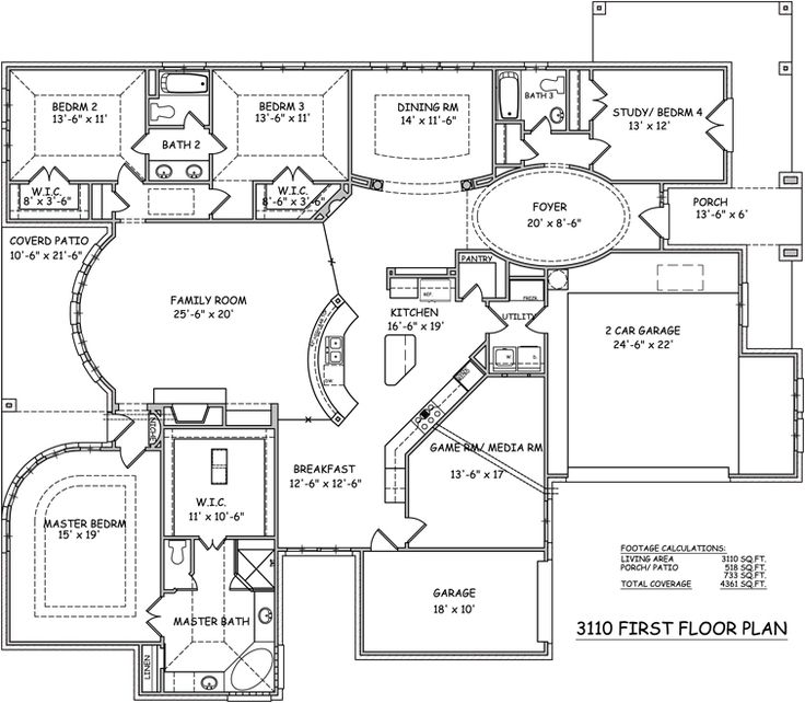 316 best images about dream home floor plans on pinterest 2nd floor house plans and bonus rooms - Blueprints For Houses
