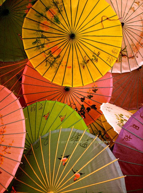 Paper parasol. Chinese Umbrella. Chinese new by TheCozyOwlsNest